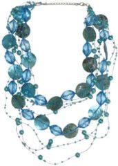 Boodz Draad Ketting Parel met Schelp Turquoise