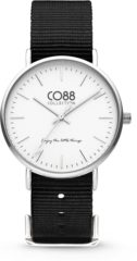CO88 Collection Watches 8CW 10023 Horloge - Nato Band - Ø 36 mm - Zwart