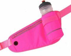 LB-441 Heuptas sport rennen waterproof smartphone riem fleshouder Heup band - Hardloopband Telefoon - Sportband - Hardloop Riem - Roze