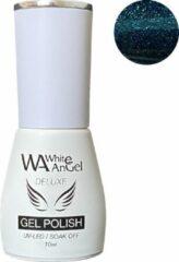 Blauwe Gellex White Angel Gellex Deluxe Gel Polish, gellak, gel nagellak, shellac - Opal 178