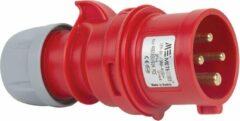 Mete - CEE male 4 polig 6H 16A IP44 kracht - rood - stekker 380-415VAC