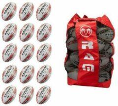 RAM Rugtby Squad rugbybal bundel - Trainingsbal - Met 2 Ballentassen - Maat 5 - 30 stuks