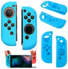 Merkloos / Sans marque Silicone Anti Slip cover voor Nintendo Switch Controller Blauw
