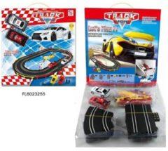 Merkloos / Sans marque Racebaan 210cm 54 delig met twee auto's