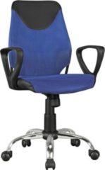 AMSTYLE Kinder-Schreibtischstuhl KiKa Schwarz Blau für Kinder ab 6 mit Lehne Kinder-Drehstuhl Kinder-Bürostuhl ergonomisch Jugendstuhl höhenverstell