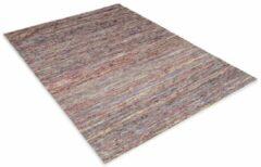 Perezvloerkleden.nl Modern tapijt - Miles blauw - rood 140x70cm