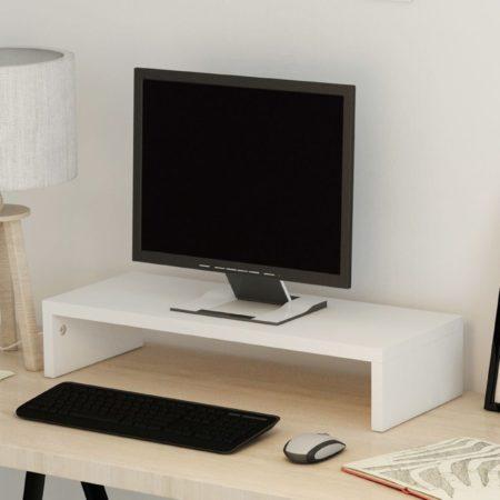 Afbeelding van VidaXL TV-/monitorstandaard spaanplaat 60x23,5x12 cm wit