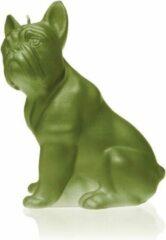 Candellana Olijfgroen gelakte figuurkaars, design: Bulldog Hoogte 15 cm (24 uur)