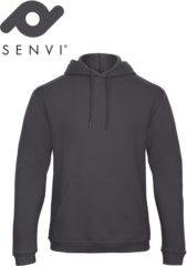 Antraciet-grijze Merkloos / Sans marque Senvi Fleece Crew Hoodie - Kleur: Antraciet – Maat L