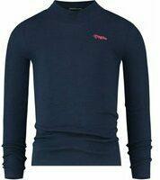 Vingino! Meisjes Shirt Lange Mouw - Maat 176 - Donkerblauw - Katoen/elasthan