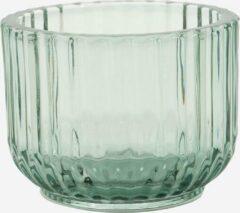 Point-Virgule Point-Vergule - Theelichthouder glas - Groen - 7.7cm