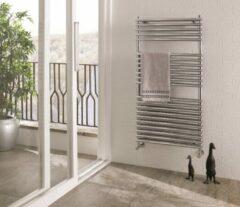 Eastbrook Biava chroom double tube on tube radiator badkamer 600 x 400mm (1200 x 600mm afgebeeld)