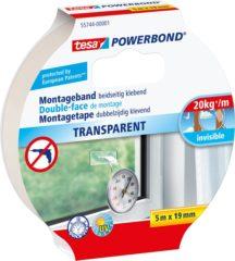 Tesa tesa POWERBOND Montagetape Transparant (l x b) 5 m x 19 mm Rubber Inhoud: 1 rollen