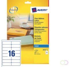 Avery transparante etiketten QuickPEEL formaat 991 x 339 mm (b x h) 400 stuks 16 etiketten per blad