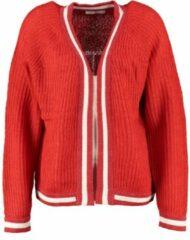 Vila joy rood vest met glitterboorden - valt ruim - Maat L/XL