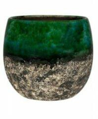 Ter Steege Pot Lindy groen Black donkergroene ronde bloempot voor binnen 23 cm