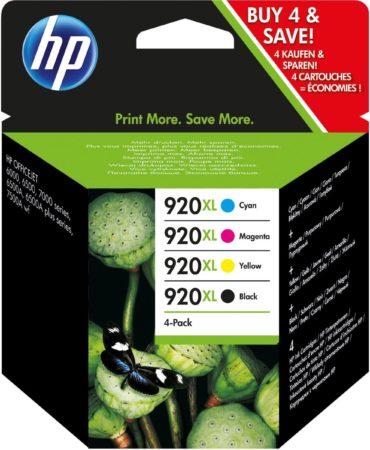 """Afbeelding van <lt/>span style=""""font-size: larger; font-weight: bold;""""<gt/>Overview<lt/>/span<gt/><lt/>br /<gt/>HP 920XL combopak zwarte/cyaan/magenta/gele Officejet inktcartridges print professionele kleurendocumenten voordeliger dan lasertechnologie. High-capacity car"""