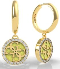 Goudkleurige Guess Jewellery GOLDEN HOUR UBE70251 Volwassenen Oorhangers 16mm