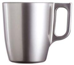 Zilveren Luminarc Koffie beker zilver