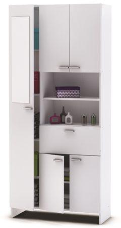 Afbeelding van Young Furniture Badkamerkast Charlie 3 - Wit met spiegeldeur