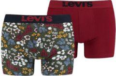 Groene Levi's 2-pack boxershorts khaki flower