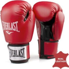 Rode Everlast Moulded foam training glove in leather Red 10oz