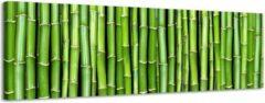 Mooie-Wanddecoratie.nl Bamboe Fantasy - Canvas Schilderij Panorama 158 x 46 cm