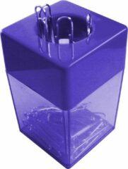 SDI - Paperclip dispensers - 45x45x70mm - Inclusief 100 paperclips! - Blauw - 1 stuk