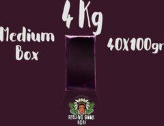 Feeling Good Acai Bevroren açaí pulp | biologisch | ongezoet |wild | Super Premium kwaliteit 16%| 4 kg (40 x 100g)
