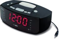 Zwarte CALIBER Wekkerradio HCG101 met wake-up light functie en USB laadfunctie dual alarm en zoemer functie
