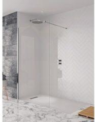 Simpsons Design New zijwand met muurprofiel 140x195cm zilver profiel helder glas DSPSC1400+