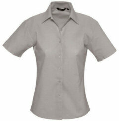 Zilveren Overhemd Sols ELITE OXFORD