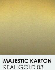 Gouden Karton met glinster notrakkarton Majestic real gold 03 30,5x30,5 cm 250 gr.