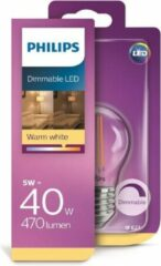 Philips LED-lamp Energielabel A+ (A++ - E) E27 Kogel 6 W = 40 W Warmwit (Ã x l) 4.5 cm x 8.0 cm Dimbaar (warmglow) 1 stuk(s)