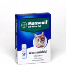 Mansonil All Worm Tablet Cat Small - Anti wormenmiddel - 4 tab 1 Tab Per 4 Kg