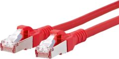 Metz Connect 1308451066-E RJ45 Netwerk Aansluitkabel CAT 6A S/FTP 1 m Rood Snagless