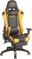 Clp TURBO - Bureaustoel - met voetsteun - kunstleer - zwart/geel