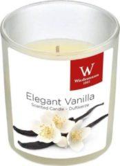 Witte Trend Candles 1x Geurkaars vanille in glazen houder 25 branduren - Geurkaarsen vanille geur - Woondecoraties