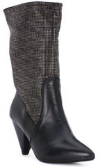 Grijze Laarzen Juice Shoes TEVERE NERO STRASS CANNA DI FUCILE