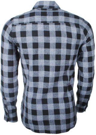 Afbeelding van Earthbound - Heren Overhemd met 2 Borstzakjes - Geblokt - Grijs