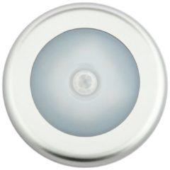 Grijze Groenovatie LED Kastverlichting - 1W - Rond - 4xAAA Batterijen - Sensor - Warm Wit - Aluminium