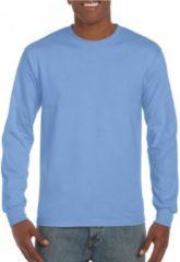 Gildan Heren t-shirt lange mouw carolina blauw 2XL
