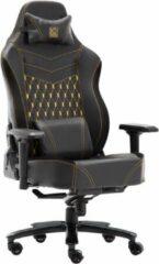 Gouden Game Hero x LC-Power Luxe Gaming Stoel - Bureaustoel - Verstelbare Armleuningen - Stoel Met Hoofdkussen - Game Stoel - Zwart