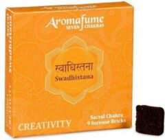 Zandkleurige Aromafume Chakra Wierookblokjes: Swadhishtana - sacraal chakra