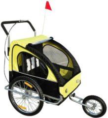 2 in1 Kinderfahrradanhänger HOMCOM gelb-schwarz