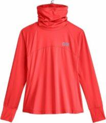 Koraalrode Coolibar - UV Zwemshirt met halsbescherming voor dames - Paros - Warm Koraal - maat L