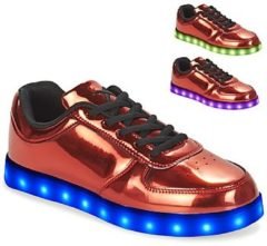 Rode Lage Sneakers Wize Ope POP