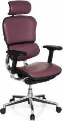Paarse Hjh office Ergohuman - Bureaustoel - Leder - Luxe - Violet