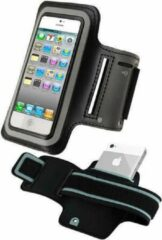 Zaland-Huismerk Sportband iPhone 5 / 5S / 5C hardloop sport armband met reflectie kleur Zwart