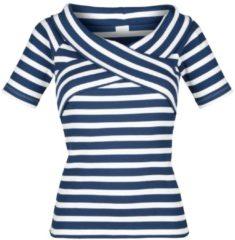 T-Shirt Alba Moda marine/weiß